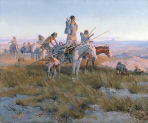 Amerikanischer Indianer Gemälde