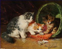 Katze Gemälde