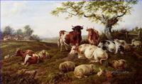 Stier Kuh Rinder Gemälde