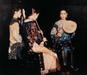 Chinesische Mädchen Gemälde