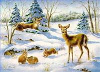 Weihnachtsmarkt Gemälde