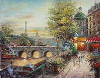 Einfaches Straßenbild Gemälde