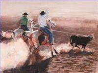 Indianer und Cowboy Gemälde