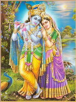 Radha Krishna Gemälde