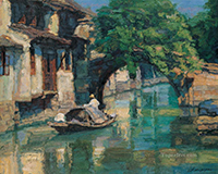 Shanshui Chinesische Landschaft Gemälde