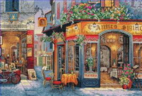 Laden an der Straße Gemälde