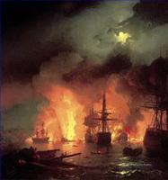 Kriegsschiff Seeschlacht Gemälde