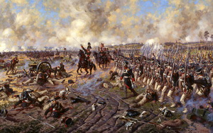Militär Krieg Gemälde