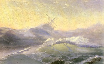 bracing the waves 1890 Romantisch Ivan Aivazovsky russisch Ölgemälde