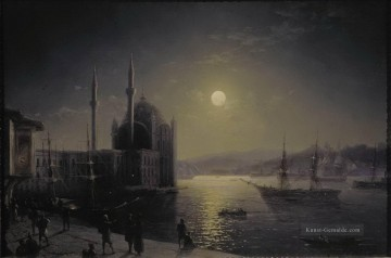 moonlit night on the bosphorus 1894 Romantisch Ivan Aivazovsky russisch Ölgemälde
