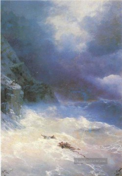 on the storm 1899 Romantisch Ivan Aivazovsky russisch Ölgemälde