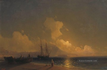 sea at night 1 Romantisch Ivan Aivazovsky russisch Ölgemälde