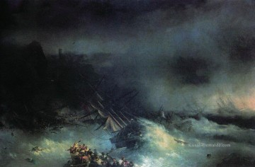 tempest shipwreck of the foreign ship Ivan Aivazovsky Ölgemälde