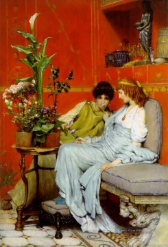 confidences romantische Sir Lawrence Alma Tadema Ölgemälde
