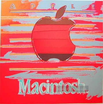 Apple 2 Andy Warhol Ölgemälde
