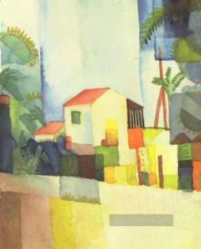 August Macke Werke - Ein Haus August Macke