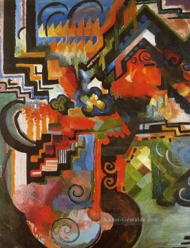August Macke Werke - Colored Composition August Macke