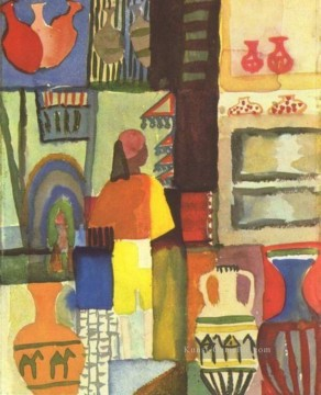 August Macke Werke - Dealer mit Pitchers August Macke