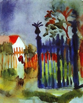 August Macke Werke - Gartentor August Macke