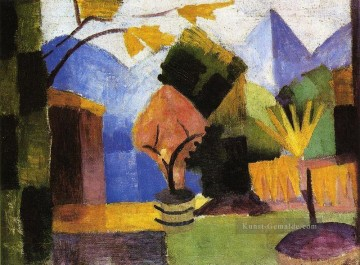 August Macke Werke - Garten am Thuner See August Macke