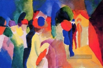 Girl With A Yellow Jacket August Macke Ölgemälde