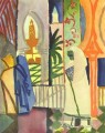 In The Temple Hall August Macke
