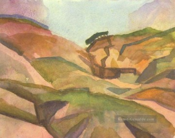 August Macke Werke - Landcape August Macke