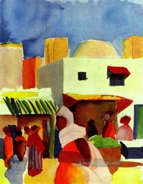 August Macke Werke - Markt In Algier August Macke