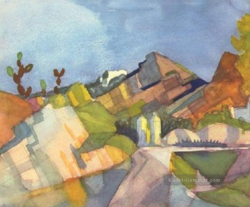 August Macke Werke - Rocky Landschaft August Macke