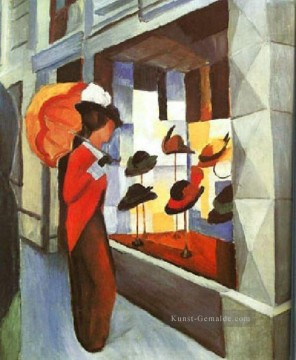 Before The Hat Shop August Macke Ölgemälde