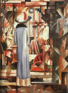 August Macke Werke - Helles Schaufenster Grobeshelles Schaufenster August Macke