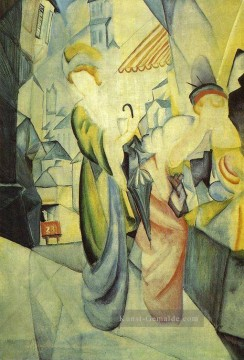 Bright Womenin front of the Hat Shop Helle Frauenvordem Hutladen August Macke Ölgemälde
