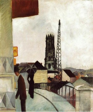 August Macke Werke - Kathedrale in Freiburg Swit August Macke