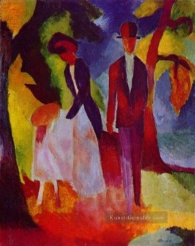 August Macke Werke - Familie am blauen See August Macke
