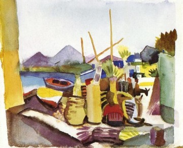 August Macke Werke - Landschaft in Hammamet August Macke