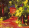 Red House in a Park August Macke
