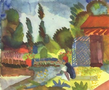 August Macke Werke - Sitzen Arabien August Macke