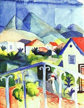 August Macke Werke - St Germain bei Tunis August Macke