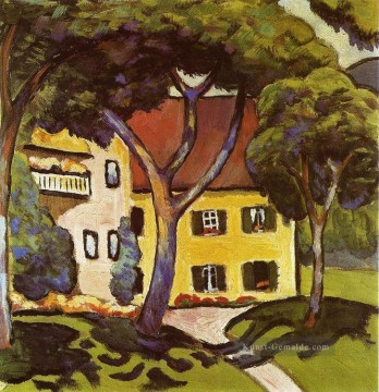 August Macke Werke - Staudachers Haus am Tegernsee August Macke