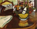 Still Life with Stag Cushion and Blumen August Macke