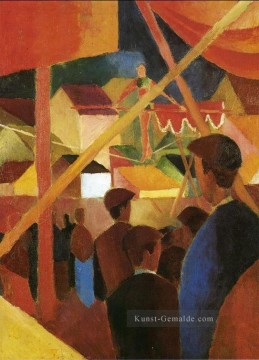 August Macke Werke - Tightrope Walker Seiltanzer August Macke