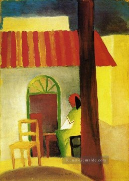 August Macke Werke - Türkisches Cafe August Macke