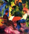 Couple At The Garden Table August Macke