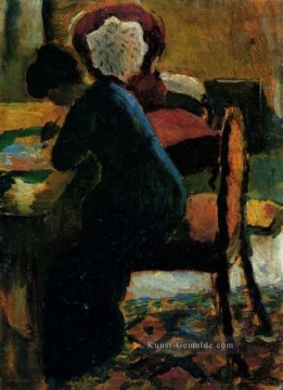 Elisabeth At The Desk August Macke Ölgemälde
