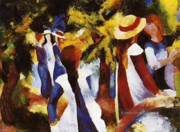 Girls In The Forest August Macke