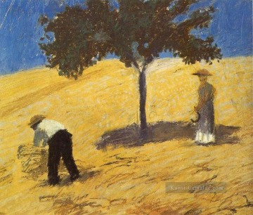 Tree In The Grain Field August Macke Ölgemälde