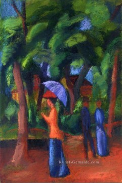 Walking in the Park August Macke Ölgemälde
