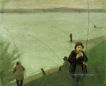 Fishing At The Rhine August Macke Ölgemälde