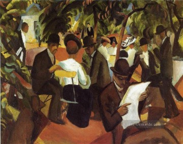 August Macke Werke - Garden Restaurant August Macke