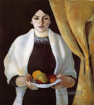 August Macke Werke - Porträt with Apples Wife of the Artist August Macke